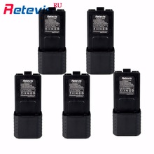 5Pcs Large Capacity 2800mAh Li-ion Battery BL-5L For Retevis RT-5R RT5R Baofeng UV5R/UV5RB/UV5RE/UV-8HX TYT TH-F8 Pofung 5R 5RA