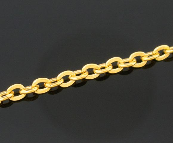 DoreenBeads 2 M Placcato Oro Chain Link Giudizio 3x2.5mmDoreenBeads 2 M Placcato Oro Chain Link Giudizio 3x2.5mm
