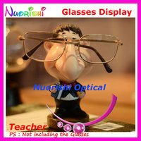 Store Household Car Decoration Lovely Teacher Image Eyeglass Eyewear Sunglass Glasses Display Stands Props CK85 Free Shipping