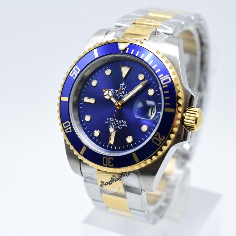 Watches For Men, PETER LEE Watch | Luxury Brand Dial 40mm Watch Classic Men Automatic Mechanical Men Watch Business Black Full Steel Waterproof Wristwatch