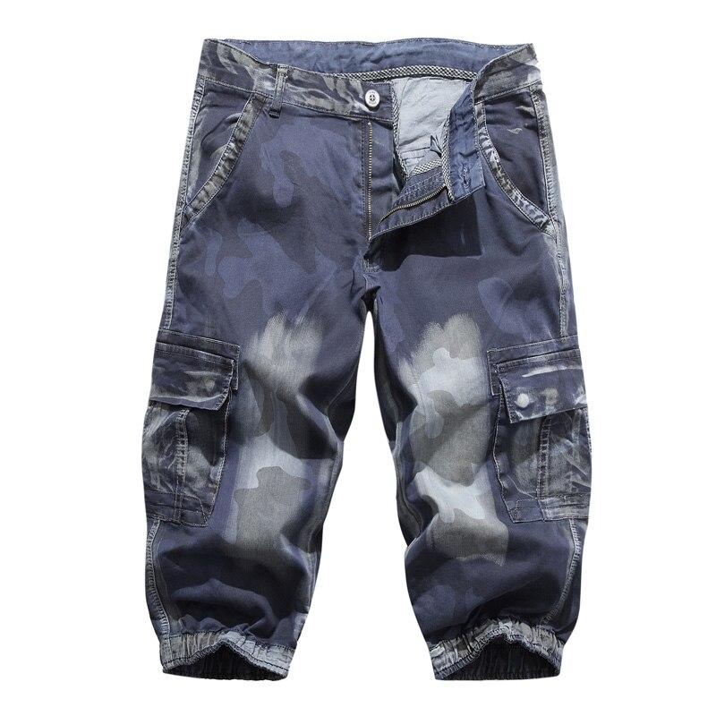 poche Short bleu Multi Hommes Camo Pantalons D'été Solide Shorts Noir Cargo Décontracté Genou Militaire Offre Spéciale Nouveau Lâche Courts Longueur Grande 2019 Taille qxgUw