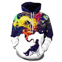 2018 New 3D Smoke Printed Hoodies Men Women Hoody Sweatshirts Spring Winter Outwear Casual Pullover Fashion