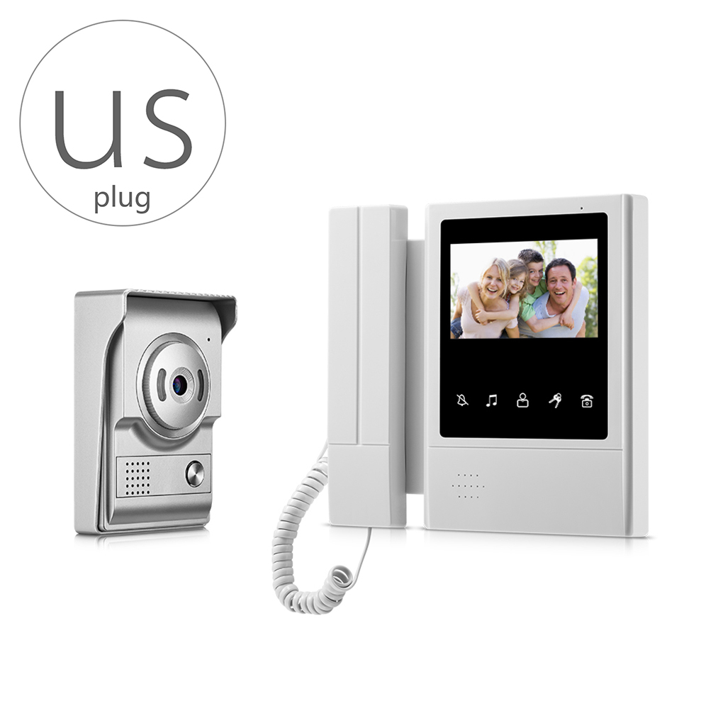 V43E168-L+ Video Doorbell Phone Video Intercom Monitor Door Phone LCD HD Night Vision Camera for House Apartment Security aputure digital 7inch lcd field video monitor v screen vs 1 finehd field monitor accepts hdmi av for dslr