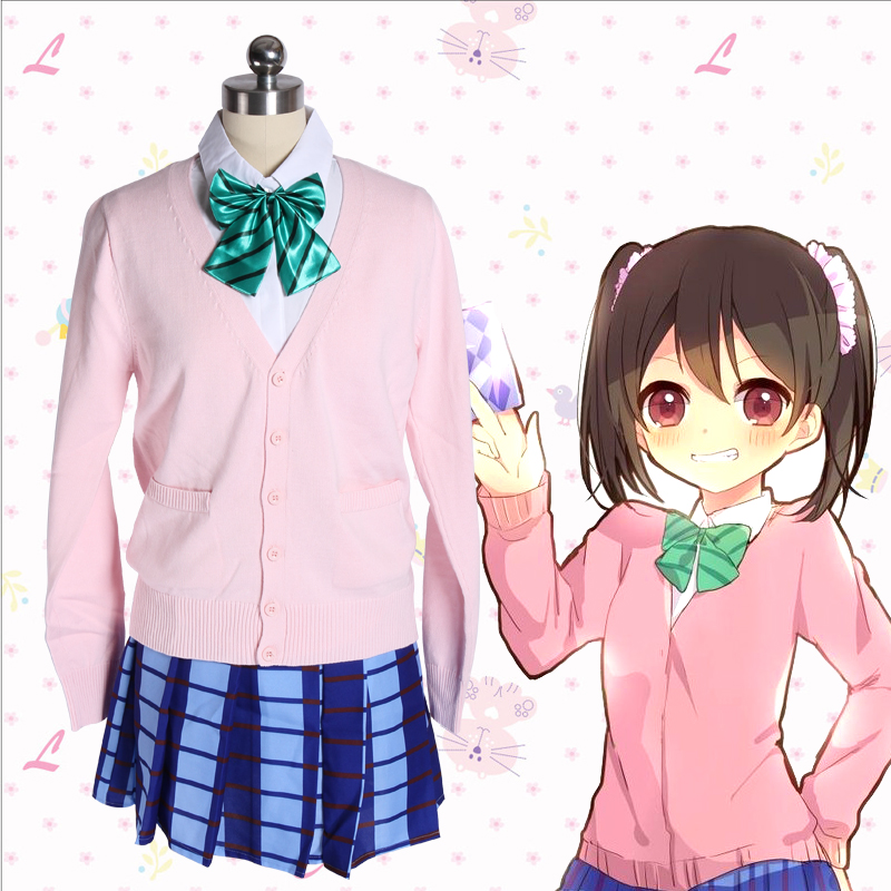 Love Live LoveLive Cosplay Costumes Nico Yazawa Knitted Sweater School Girls Uniforms Colorful Long Sleeves Spring Tops