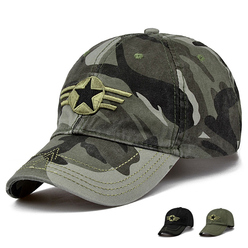 MNKNCL 2017 New Arrival Men Pentagram Cap Top Quality Baseball Caps Camouflage Hunting Fishing Hat Camo Baseball Hats Adjustable jungle new outdoor men s recreational fishing hunting baseball cap bionic camouflage