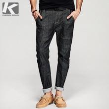 KUEGOU 2017 Spring Mens Fashion Denim Pants Thin Black Zipper Harem Jeans Slim Pockets Trousers Man's Wear Brand Clothing 8309