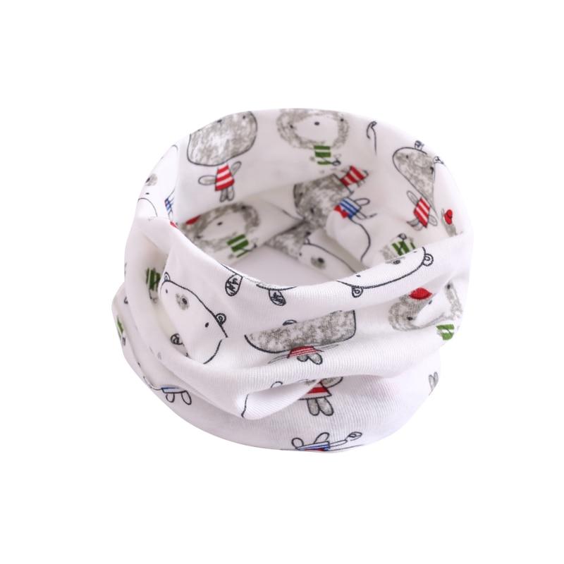 Детский хлопковый шейный шарф с милым принтом; детский теплый шарф; Детские воротники; осенне-зимний шарф-кольцо для мальчиков и девочек; аксессуары для детской одежды - Цвет: wb001