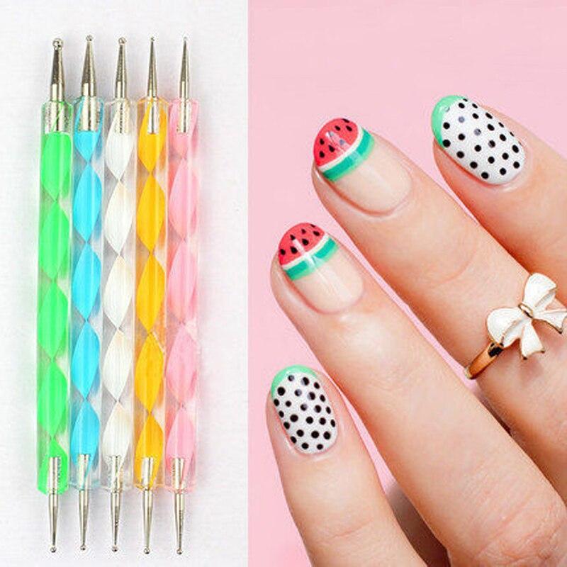 5 PCS Multi-Styles Nail Art Rhinestones Gems Picking Crystal Dotting Pen For DIY Nail Art Decor Nail Art Dotting Pen TB03-08