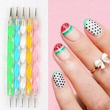 5 PCS Multi-Styles Nail Art Rhinestones Gems Picking Crystal Dotting Pen For DIY Decor TB03-08