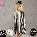 2017 New autumn girls dresses stripe kids dress children casual long sleeve dress children dresses girls