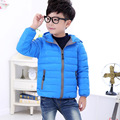 Winter Boys Girls Hooded Coat Zipper Winter Coat For Kids Padded Jacket Casual Children's Outerwear 2-10Years Old