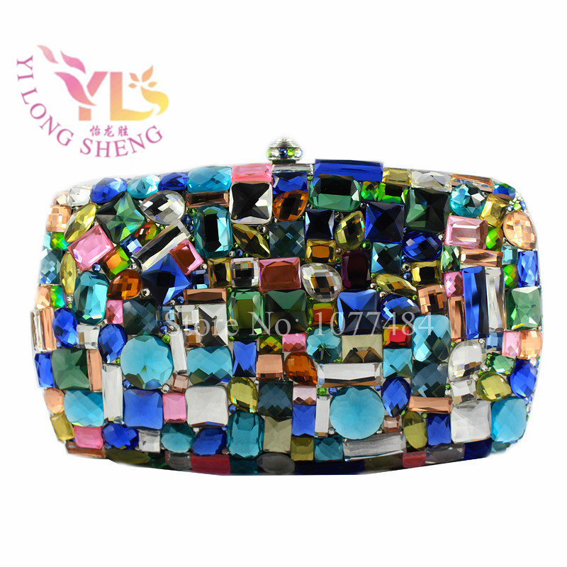 Luxury Handbags Women Evening Bags HOT NEW Women's  Crystal Glass Evening Bag Special Occassion Hand Clutch Purse YLS-G01 luxury crystal clutch handbag women evening bag wedding party purses banquet