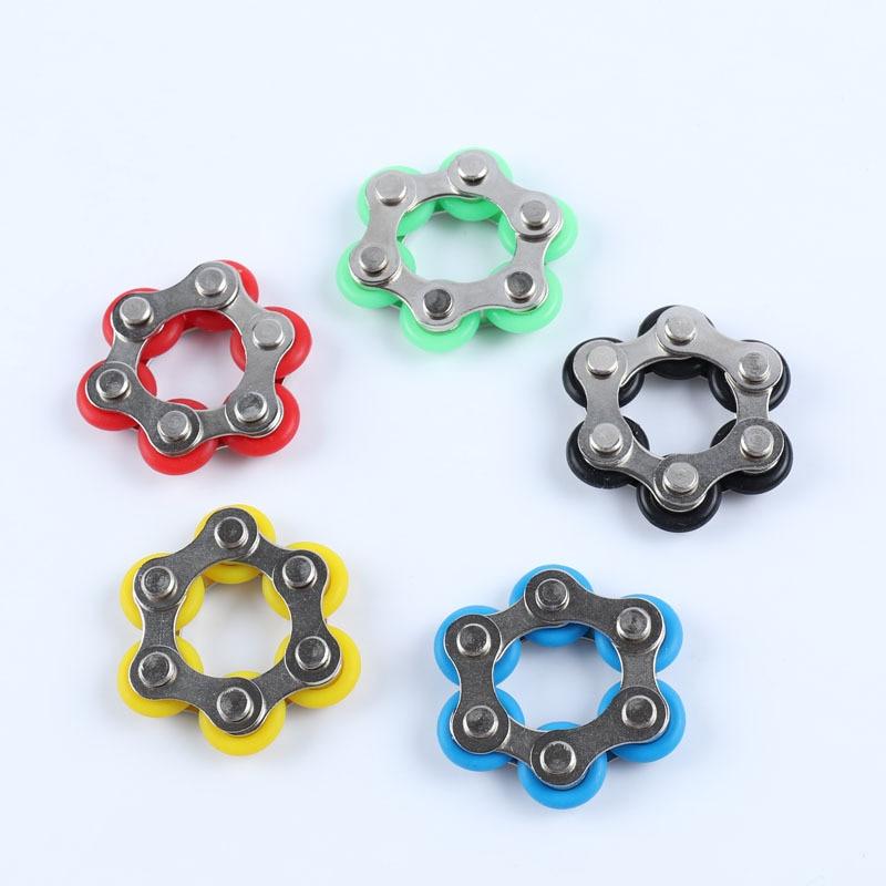Six Knots Key Ring Fidget Toy Release Stress Release Toy Bike Release Chain