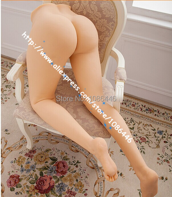 Buy Top quality 110cm real silicone sex dolls full silicone feet sex toy sex doll legs vagina real pussy ass sex products