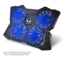 Cooling Pad สำหรับ 15.6 17 นิ้วแล็ปท็อปพร้อมพัดลมขนาด 120 มม.ที่ 1200 RPM, สีดำ ERGONOMIC Stand ป้องกันแล็ปท็อปความร้อนสูงเกินไป