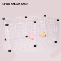 Small Rabbit Iron Run Cage Enclosure Indoor/Outdoor Foldable Playpen Puppy Dog Pet Fence