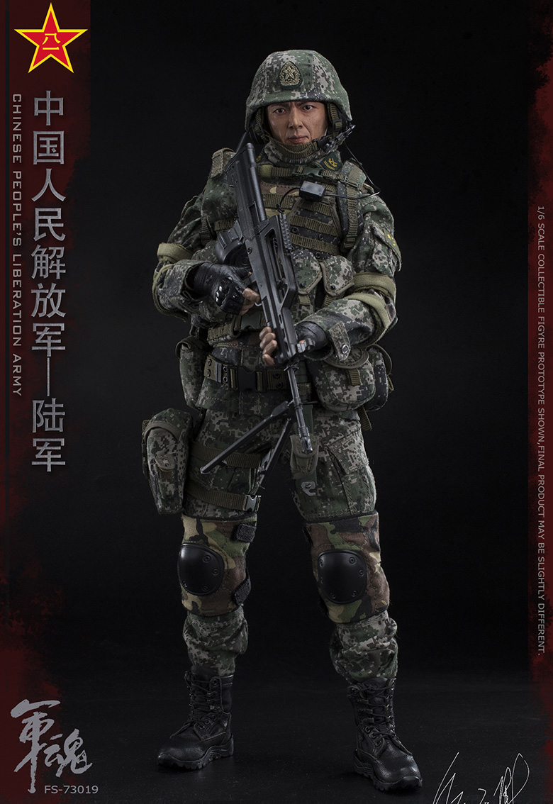 1/6 Scale Chiese People's Liberation Army Soul-Series Army Machine Gunner Military Solider Action Figure Full doll collection 7