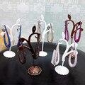XB430 Luxury fashion 925 sterling silver colorful stone Plated cubic zirconia earrings little mermaid shape