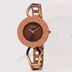 Кимио Женщины Кварцевые часы Роскошные платья часы Дамы браслет дизайн наручные часы модные подарок женский часы relogio feminin