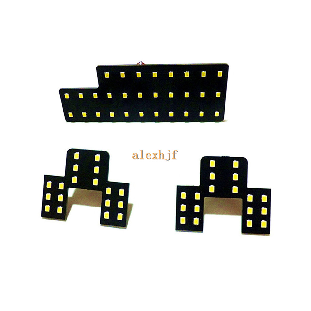 July King LED Car Interior Decorative Reading Lights Case for Suzuki SX4, 2835 LED Chips SMD, 6000K White, High Brightness, 3pcs лампа king page autumn a6 sx4 led