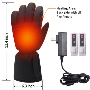 3.7V Rechargeable Electric Battery Heated Gloves for Men and Women,Outdoor Indoor battery Powered Hand Warmer Glove Liners
