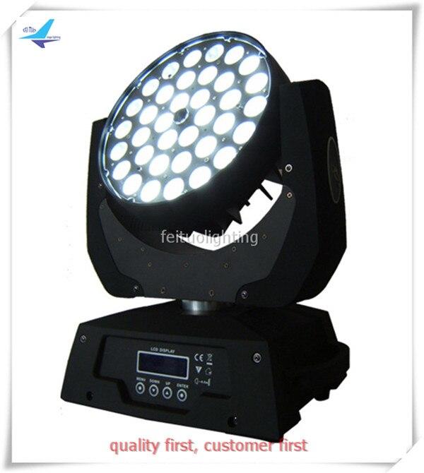 T-2pcs/lot zoom led wash moving head disco light 36x10w rgbw 4 in 1 zoom wash moving head dmx light stage light
