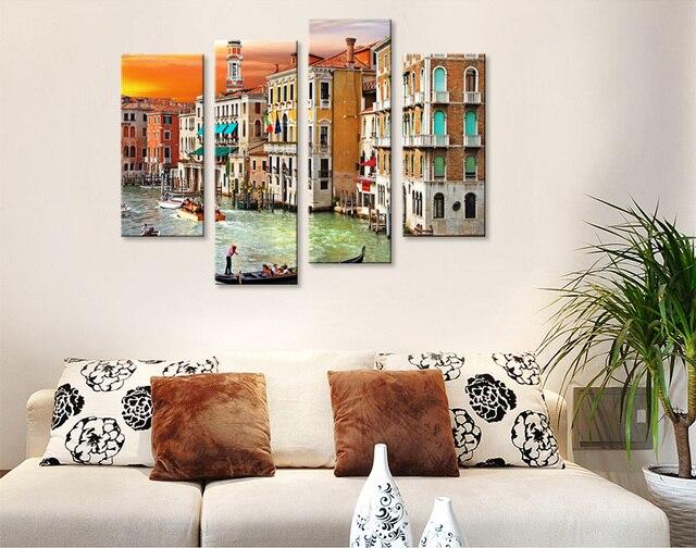 EVERFUN ARTE Sin Marco Venecia Paisaje Decoración Arte de Las ...