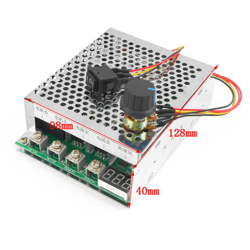 DC12/24/36/48V Reversible Motor Speed Controller 60A Control Governor 15KHZ Mayitr