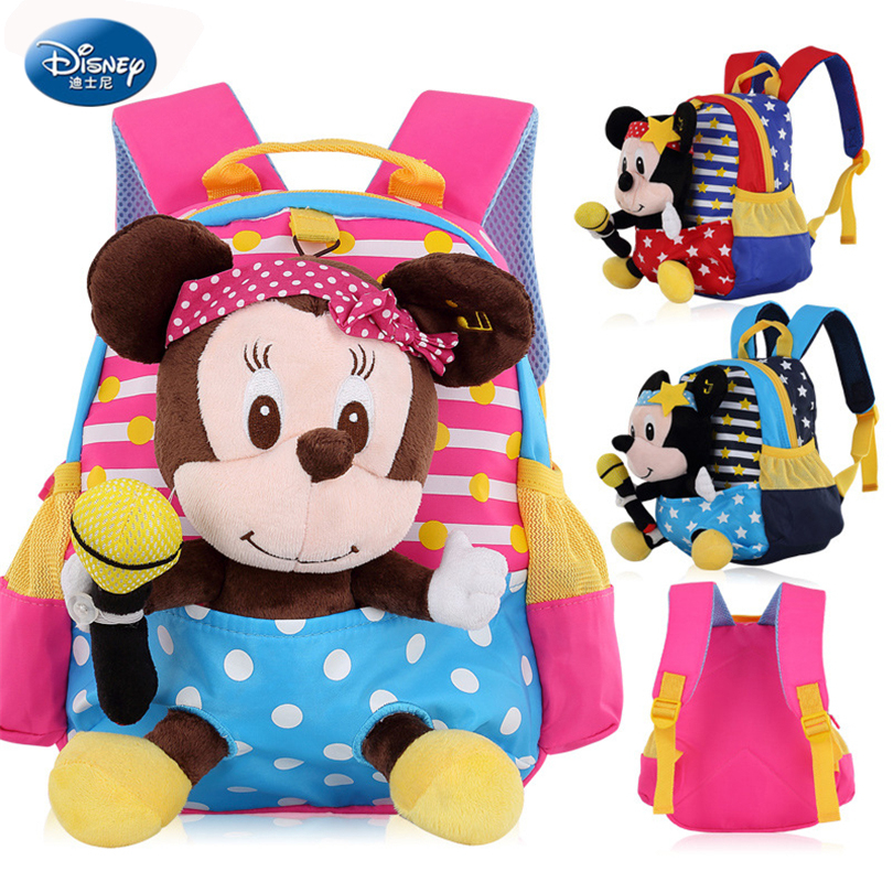 Disney Mickey Mouse Children Backpacks Kindergarten Schoolbag Kids Backpack Children School Bags Girls Boys Backpacks A076 girls animal school bags backpack 3d dinosaur backpack for boys children backpacks kids kindergarten small schoolbag
