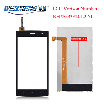 WEICHENG KHX5533E14-L2-YL For Homtom HT7 LCD Display+Touch Screen LCD Digitizer Glass Panel Replacement For ht 7 pro image