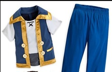 Free shipping Jake and the neverland pirates Cosplay Jake costume set shirt +pant +vest for adults/men/child
