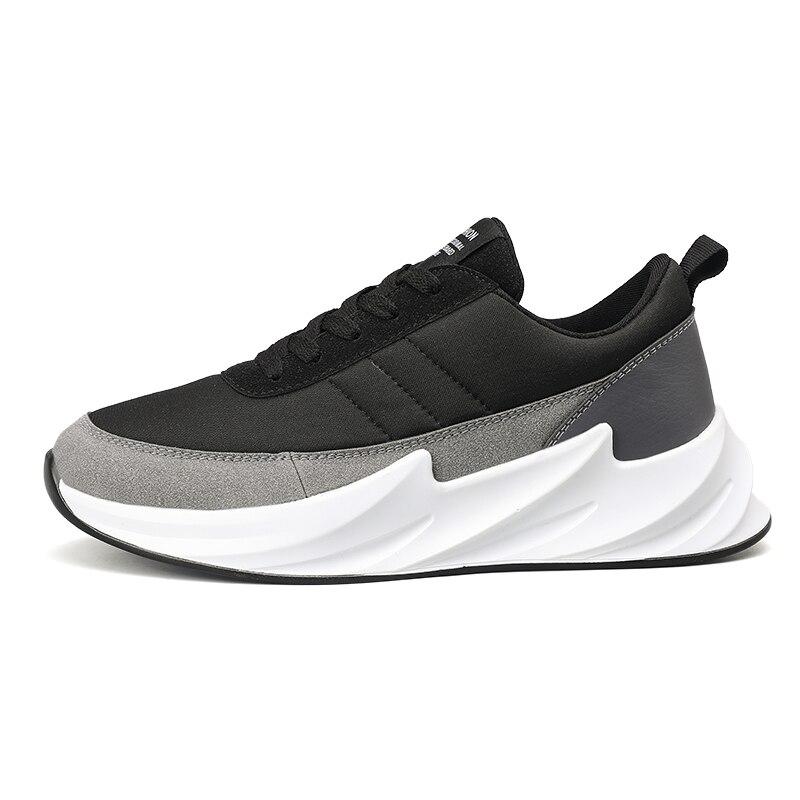 Дизайнерские кроссовки с акулой; мужская повседневная обувь из сетчатого материала; мужские кроссовки; Мужская обувь; Мужская прогулочная обувь; цвет черный, серый; кроссовки-in Мужская повседневная обувь from Обувь
