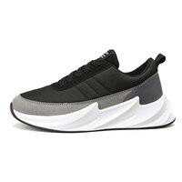 shark design bottom sneakers men mesh casual shoes men's trainers male footwear man walking shoes black grey sneaker