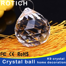 20pcs/lot 20mm Glass crystals for chandeliers faceted hanging ball crystal drops chandelier parts home decoration