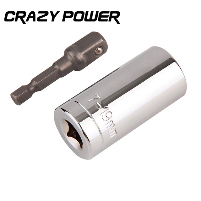 Crazy Power 2 pc/set Gator Grip Universal Socket Multi-Function Hand Tool Set Repair Kit Screwdriver Wrench Adapter