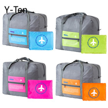 Factory Korean version of large-capacity hand-held travel bag nylon folding travel bag aircraft luggage 4 colors available