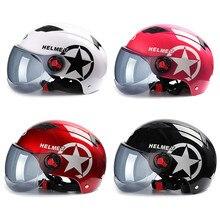 BYB мотоциклетный шлем скутер велосипед Открытый лицо половина бейсбольная кепка анти-УФ безопасность жесткий шлем мотокросс шлем несколько цветов защиты
