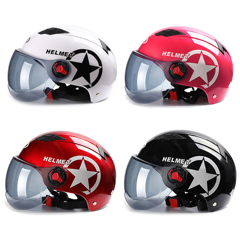 Motorcycle Helmet Scooter Bike Open Face Half Baseball Cap Anti-UV Safety Hard Hat Motocross Helmet Multiple Color Protect