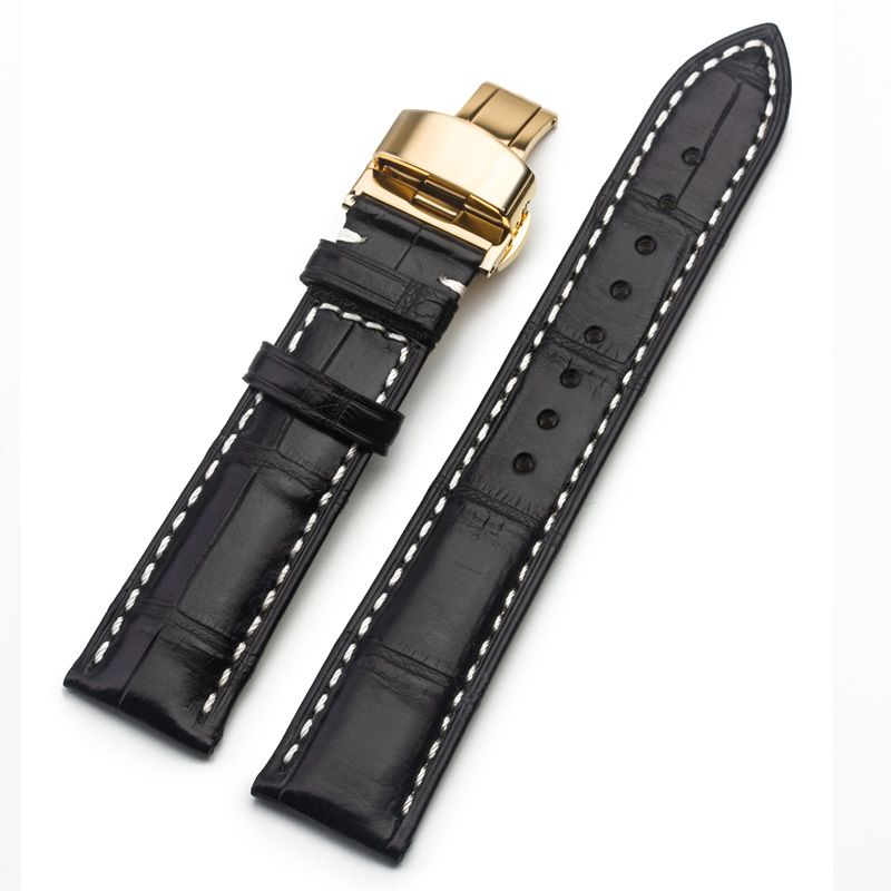 ROPS Genuine Leather Luxury Crocodile skin Watch Strap Band For Omega ZENITH Longines 18mm 20mm 22mm watch accessories longines часы купить в москве