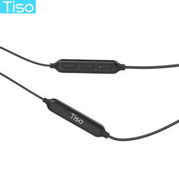 Tiso 8 hours playtime sport magnetic earphone wireless Bluetooth headphone IP67 waterproof headset 3D stereo microphone earbuds