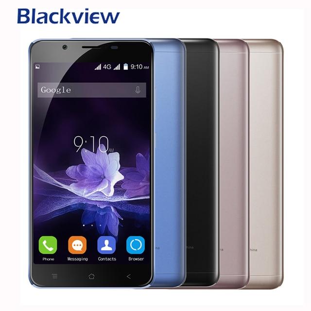 Blackview p2 смартфон 5.5 дюймов mtk6750t 1.5 ГГц Octa core Android 6.0 Мобильные телефоны 6000 мАч Оперативная память 4 ГБ Встроенная память 64 ГБ 13.0mp 1920x1080