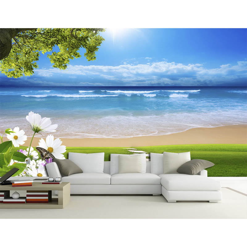 3d custom photo mural diy wallpaper living room beautiful for Custom photo mural