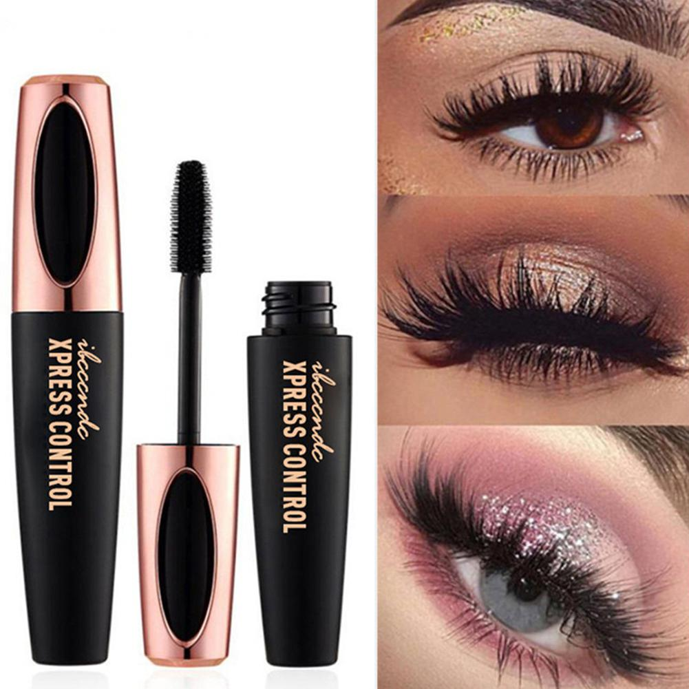 4D Waterproof Mascara Rimel Makeup Volume Express Colossal Mascara With Collagen for Eyelash Extension Black Thick Cosmetic image