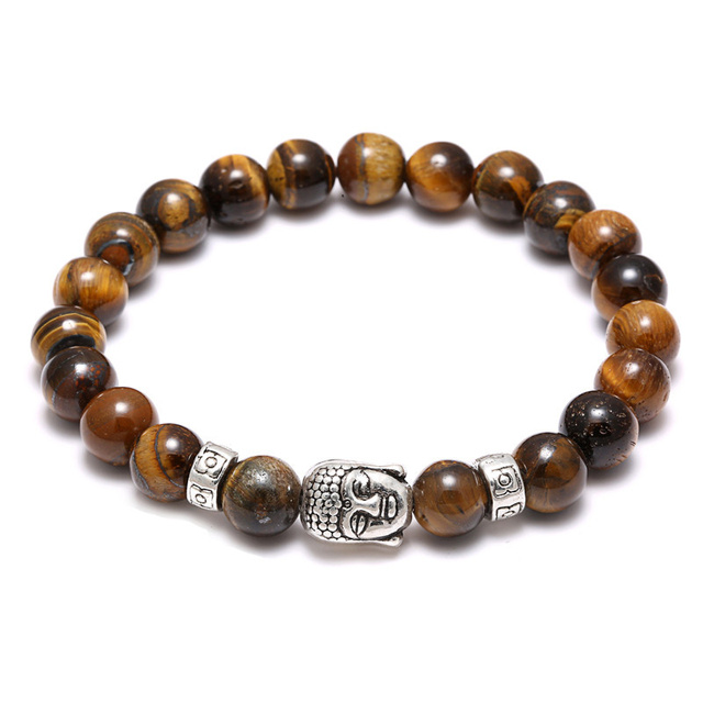 Bracelet 7 Chakras En Oeil De Tigre