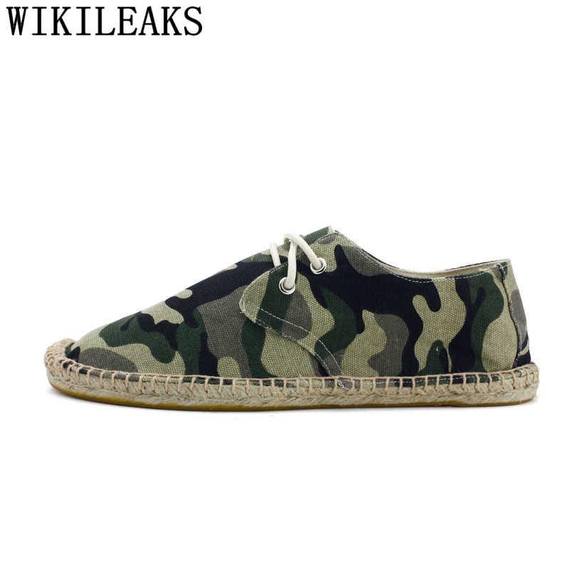 Leinwand Schuhe Männer Casual Espadrilles Männer Müßiggänger Männer Sommer Schuhe Marke Atmungsaktive Schuhe Sepatu Slip Auf Pria Tenis Masculino Bona