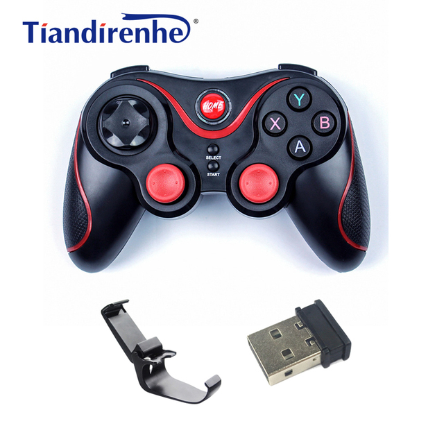 C6 Wireless Bluetooth Gamepad Joystick for PS3 IOS Android PC Computer TV Game Console Gaming Controller Pad 2.4G Receiver Stand