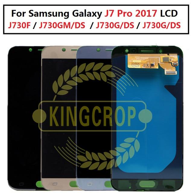 5.5 affichage AMOLED pour SAMSUNG Galaxy J7 Pro J730 LCD pour SAMSUNG J7 2017 écran tactile numériseur J730F