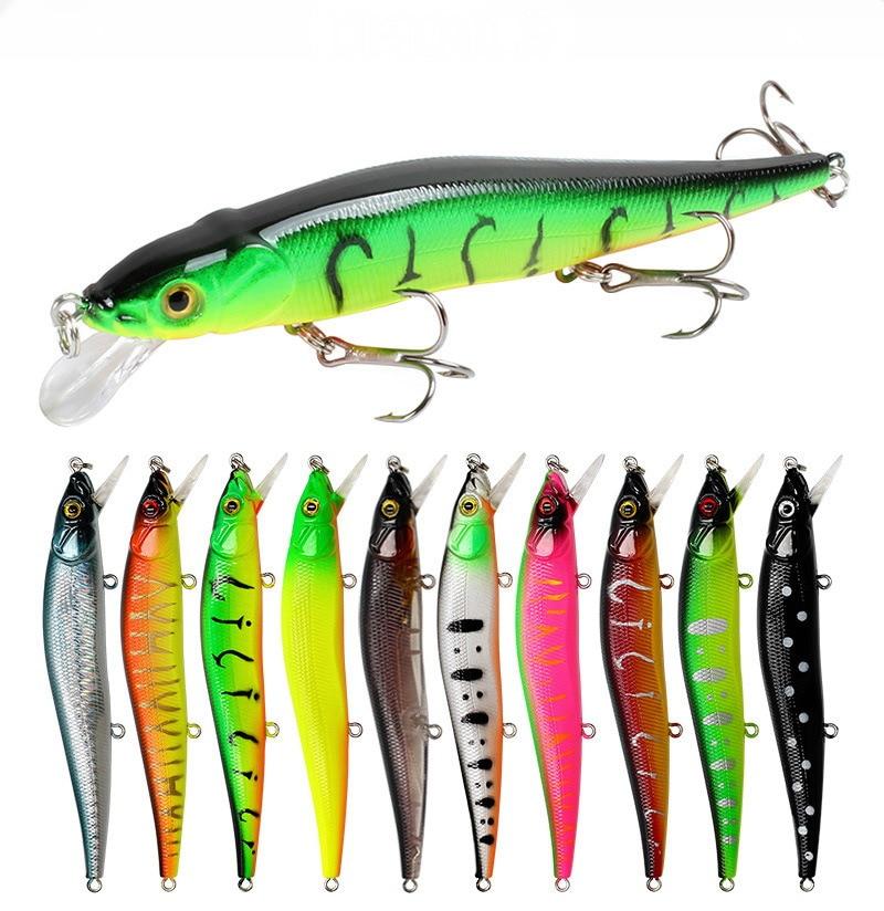 10pcs Fishing Lures Crankbaits Hook Minnow Baits Tackle Crank Fishing Kit