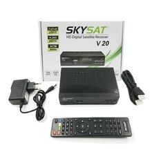 SKYSAT V20 DVB-S2 H.265 HEVC sem iks Receptor de Satélite, não há sks Suporte LAN CCam Mgcam Youtube IPTV M3u Autoroll Powervu Biss