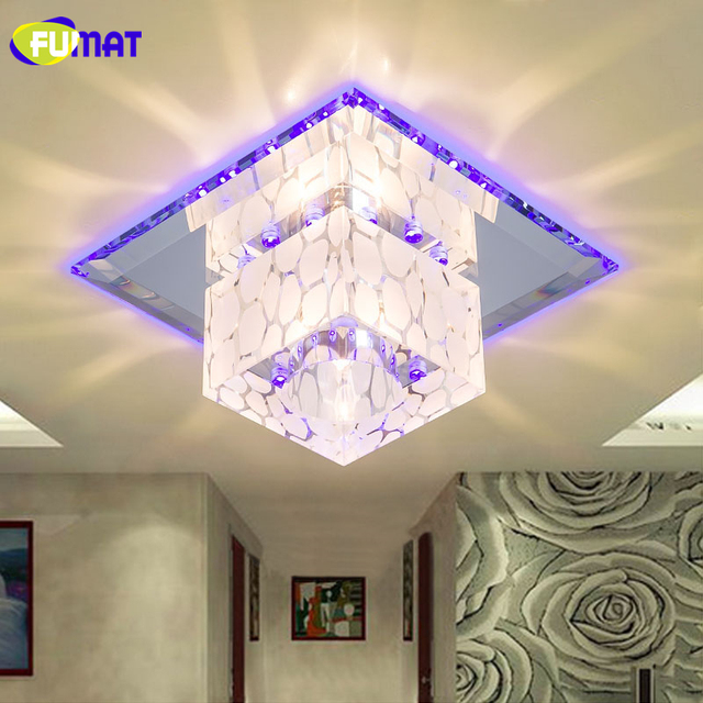 FUMAT Crystal Ceiling Lamp Small 5W Ceiling Light Corridor Living Room With 3 decor lights Home Decor Creative LED Crystal Lamp